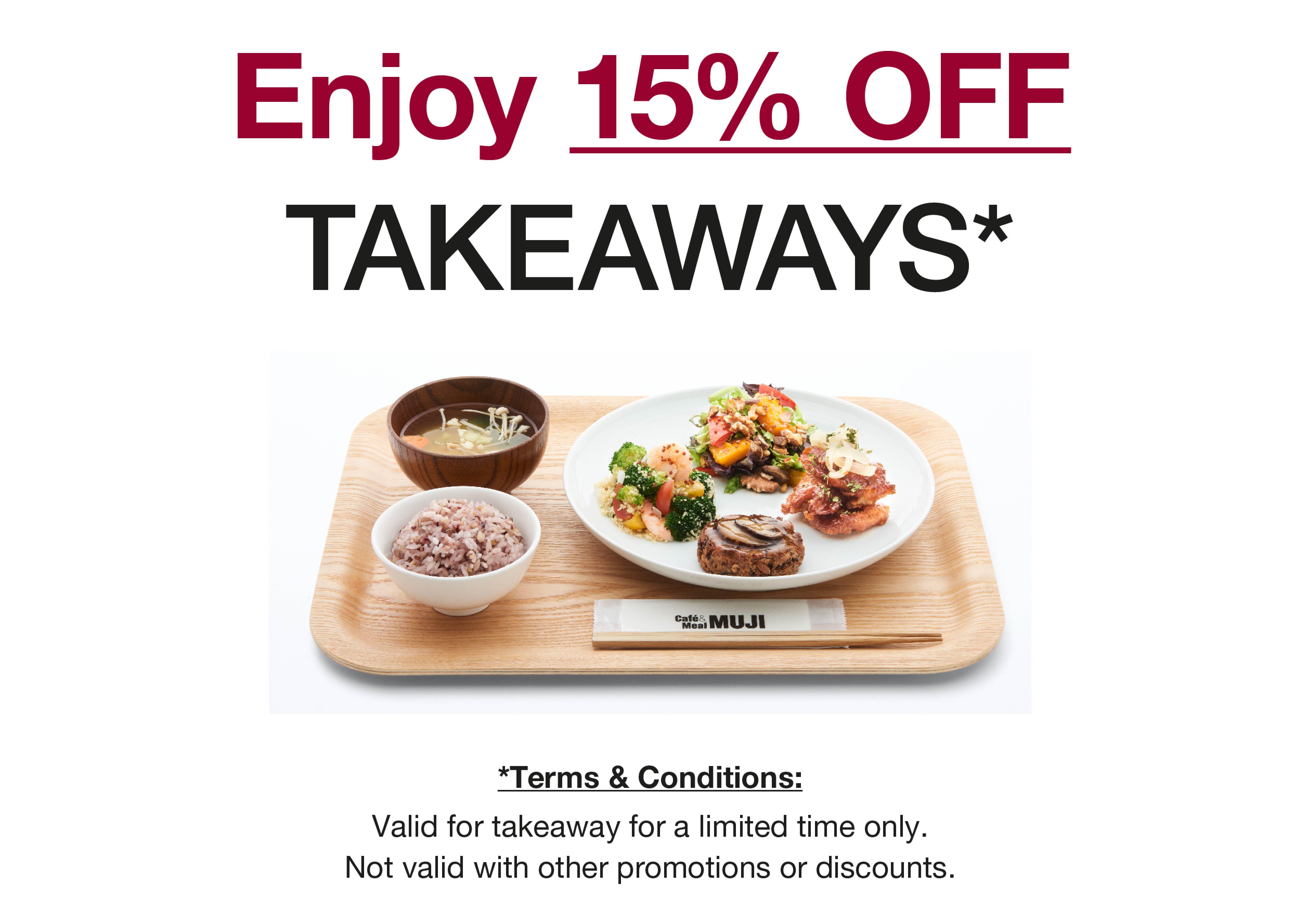 Cafe 15% OFF Takeaway_